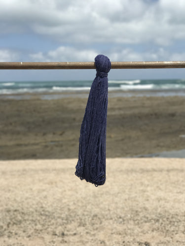 Hand Spun Middle Atlas Wool, Singles, Blue 15