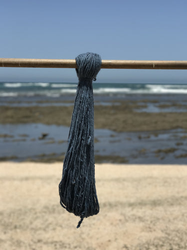 100g Hand Spun Double Threaded Blue High Atlas Wool