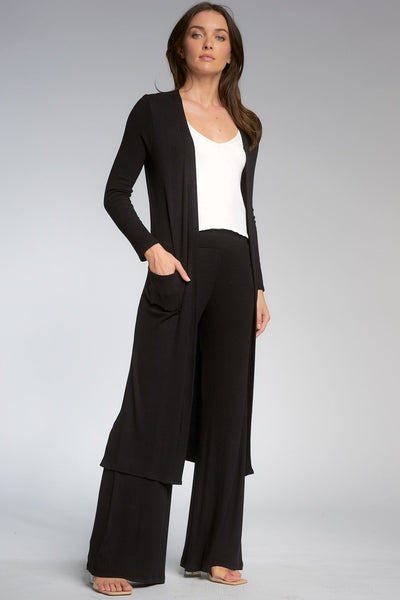 Elan Long Ribbed Sweater/Duster