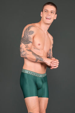 Unico Boxer Long Leg GREEN Microfibre Men's Underwear