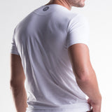Unico V-Neck Short Sleeve T-Shirt White