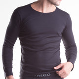 Unico Crew Neck Long Sleeve T-Shirt Black
