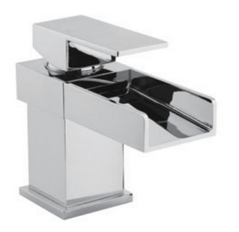Mono Basin Mixer Waterfall Including Sprung Waste