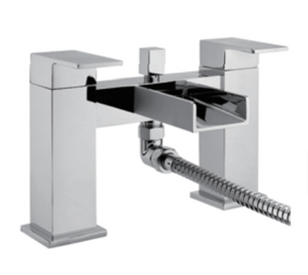 Chrome Bath Shower Mixer Waterfall Tap With Shower Kit