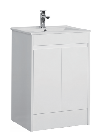 Gloss White 600mm Vanity Unit with Basin