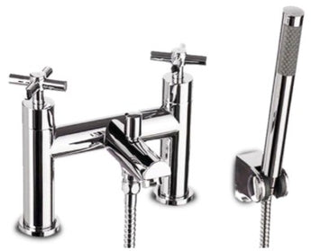 Round Chrome Bath Mixer Tap with Shower