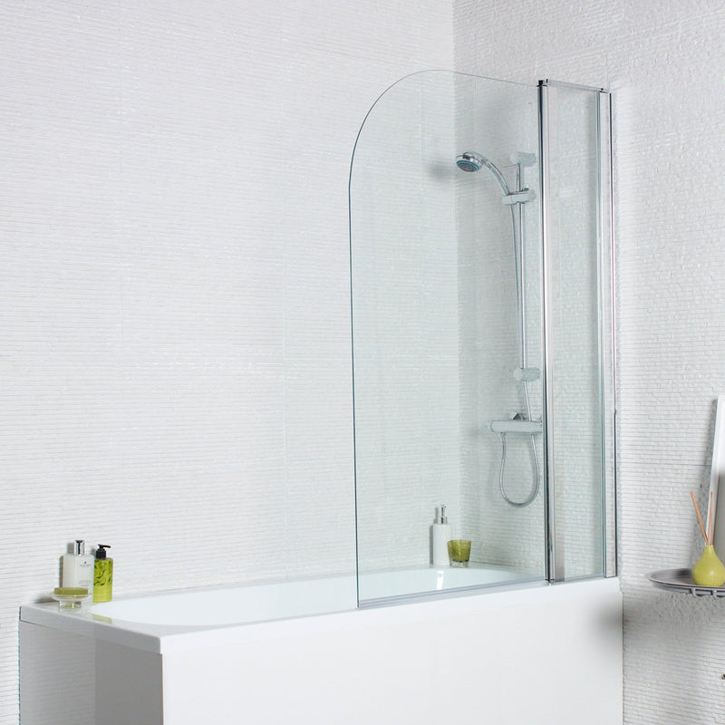 Koncept Radius Edge Bath Screen with Extension Panel