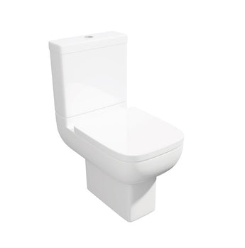 Options 600 Close Coupled Close to Wall WC Toilet with Soft Close Seat