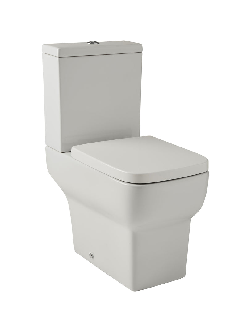 Korsika Close Coupled WC Square Toilet with Soft Close Seat