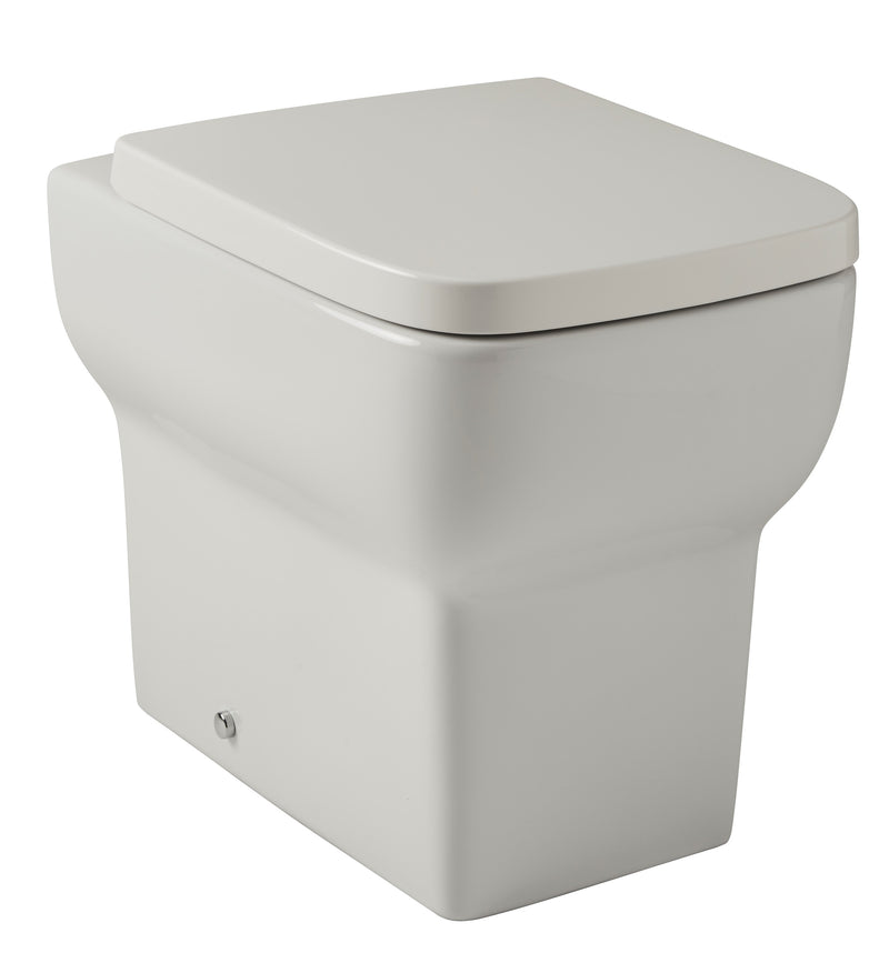 Korsika Back to Wall WC Square Toilet Pan with Soft Close Seat