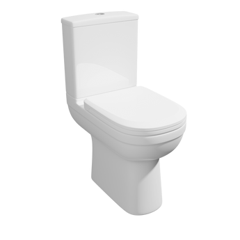 Lifestyle Comfort Height Close Coupled WC Toilet with Soft Close Seat