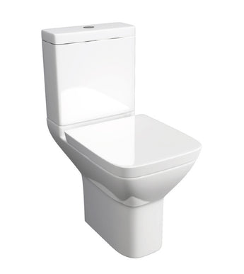 Project Square Close Coupled WC Toilet with Soft Close Seat