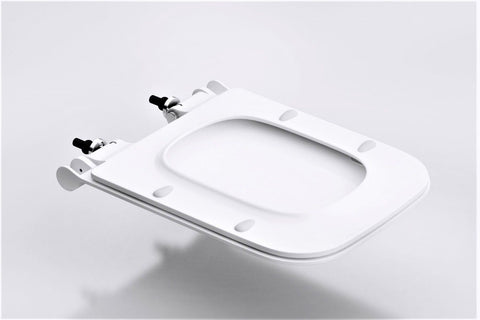 large square toilet seat.  Slim Toilet Seat Bottom Square Heavy Duty Soft Close Palm Trading