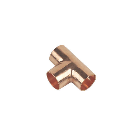 15mm End Feed Copper Equal Tee