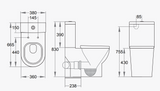 Round Close Coupled Toilet Dimensions