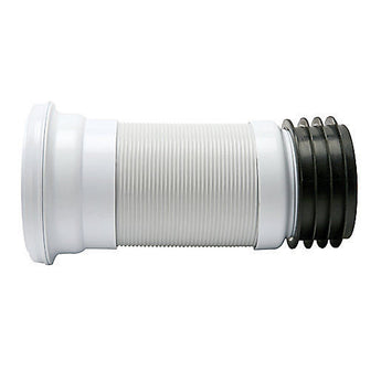 "4"" PVC WC Flexible Toilet Waste Connector Expandable 250mm to 470mm"