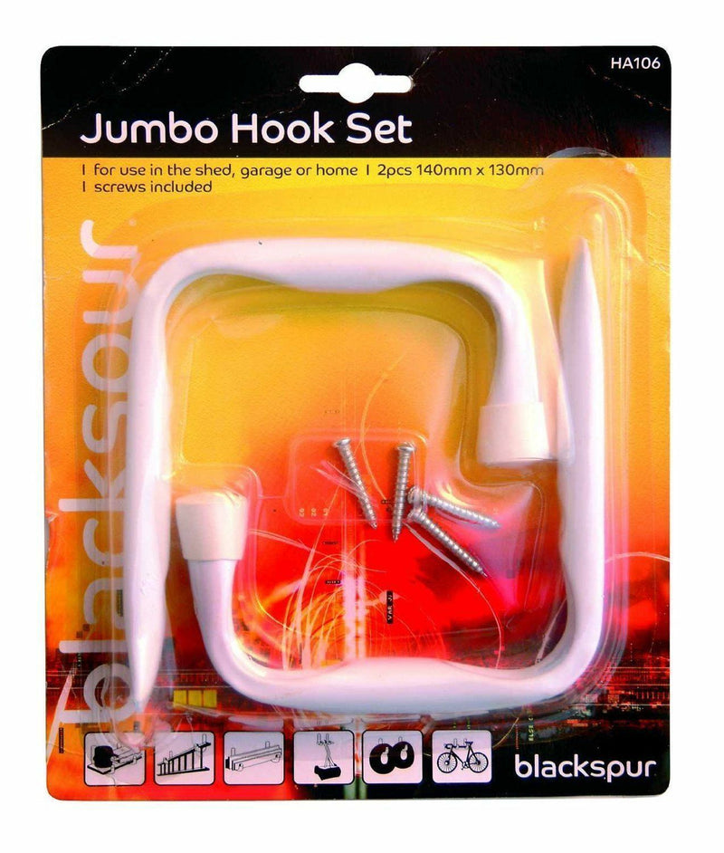 2 Pack Heavy Duty Jumbo Hook