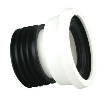 "Pan Connector WC 4"" 110mm Stubby Straight Stub Short Bathroom Plumbing"