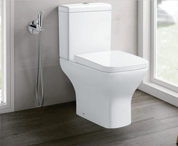 Rimless Close Coupled Square Ceramic Toilet