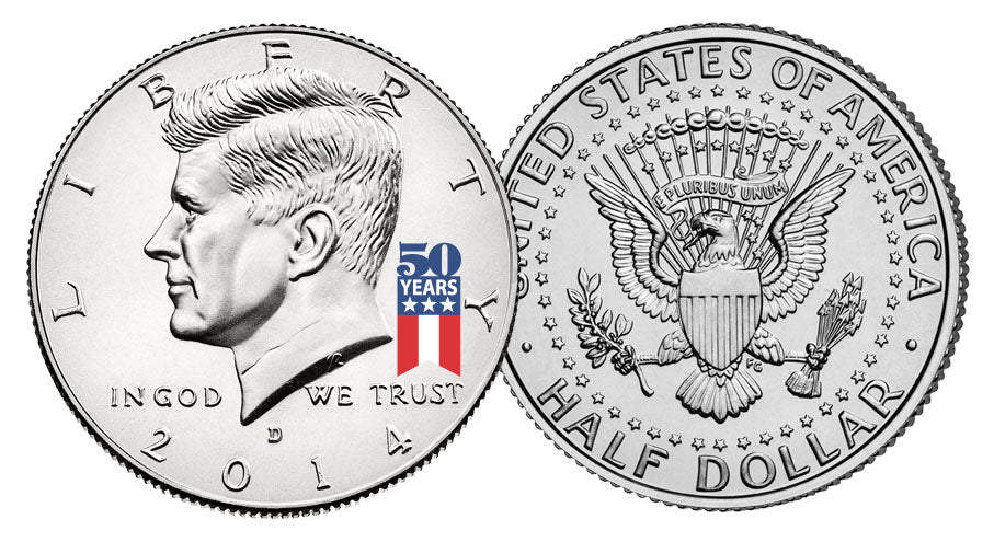 2014 Kennedy U.S Half Dollar Coin *50th ANNIVERSARY SPECIAL RELEASE LOGO* D MINT