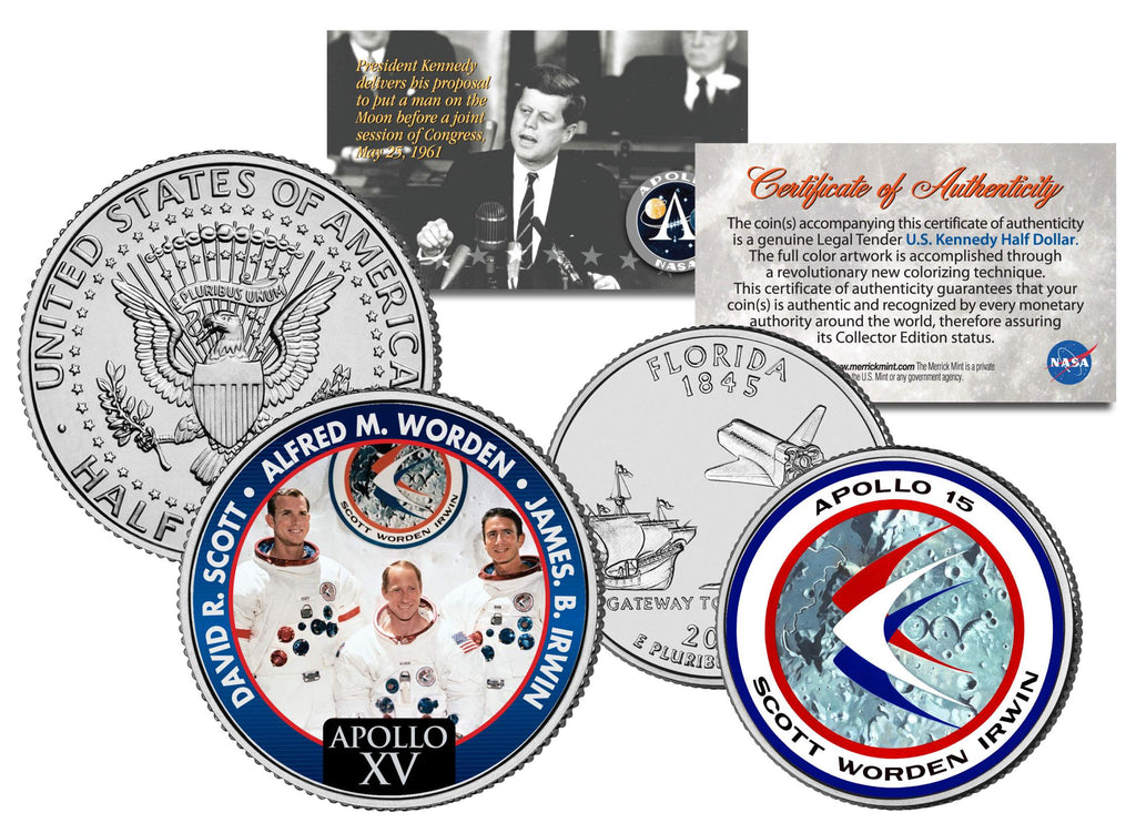 NEW QUEST FOR MARS ORION Spacecraft NASA Test Flight 2014 JFK Half Dollar Coin
