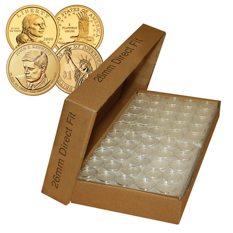 PENNY Direct-Fit Airtight 19mm Coin Capsule Holders For PENNIES QTY: 1000
