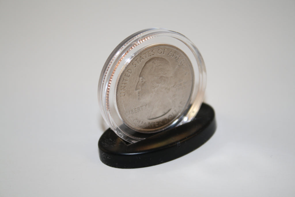 SINGLE COIN DISPLAY STANDS for Half Dollar or Quarter EXCLUSIVE DESIGN  (Quantity 100)