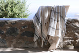 Turkish hamam towel, linen beach towel, shawl, linen scarf
