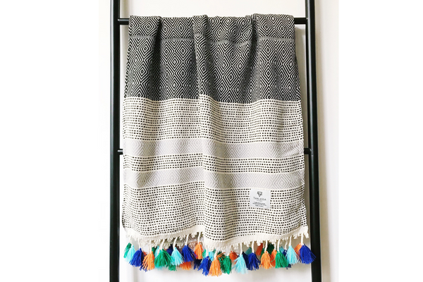 Turkish cotton hamam towel, bath and kitchen towel, hand and face towel