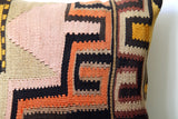 Turkish Anatolian vintage kilim pillow cover
