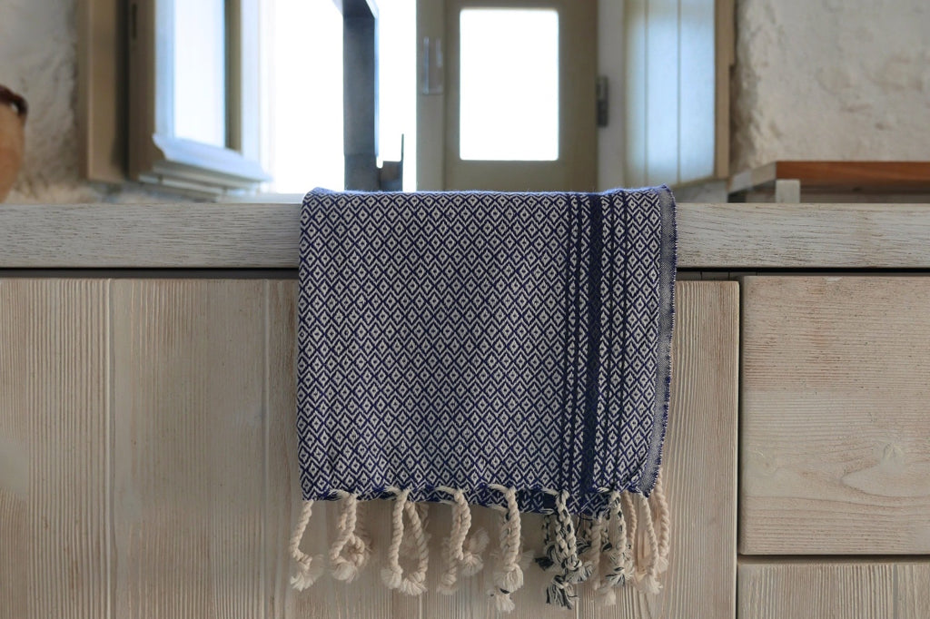 Turkish cotton bath kitchen hand towel, tea towel