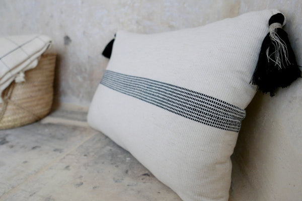 Cotton linen pillow case