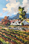 South African Original Art by Carla Bosch - Vineyards After the Rains - Fine Art Portfolio