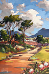 Carla Bosch Art South African Artist Painting entitled Beyond the Fields of Green