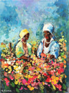 South African Original Art by Mauro Chiarla - Flower Sellers Original - Fine Art Portfolio