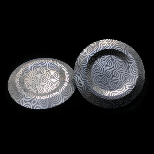 Axiom Button Set - Bluetongue Dama Steel