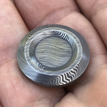 Axiom Button Set - Dense Twist Damasteel