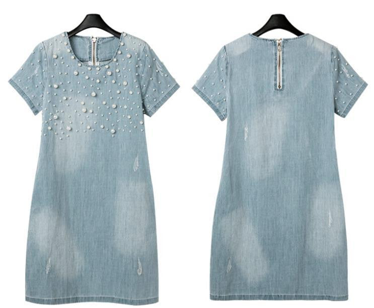 Denim Dress with details - antianti