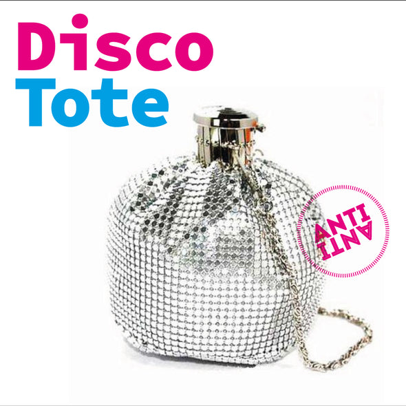 Disco Bottle Bag Tote Handbag - antianti