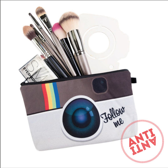 Instagram Follow me cosmetic / pencil bag - antianti