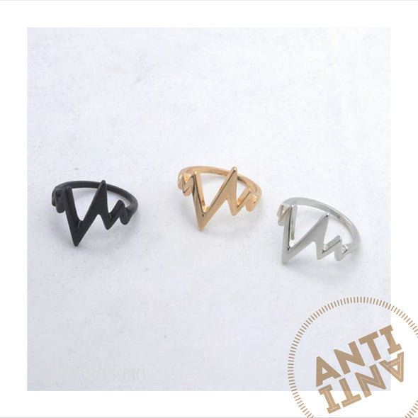 Lightening / Heartbeat ring - antianti