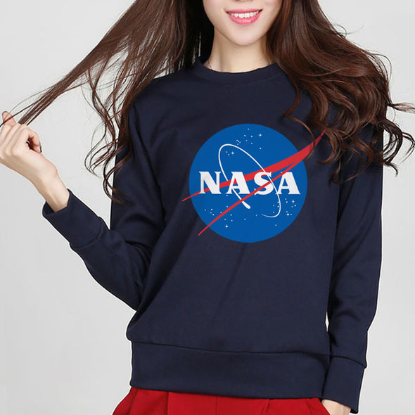 NASA print - long sleeve sweatshirt - antianti