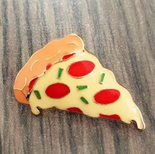 Brooch / Pin Badge - Pizza, Hamburgers, Hot Dogs, Poached Eggs, Dice Bombs - antianti