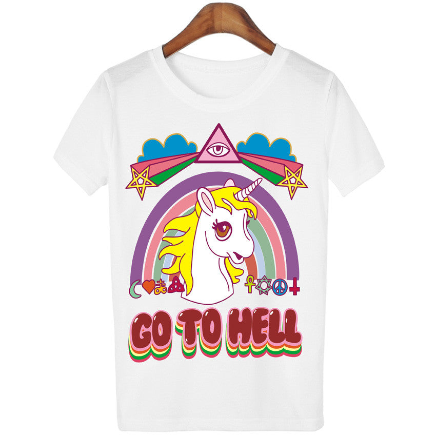 Go to Hell - Unicorn T-shirt - antianti