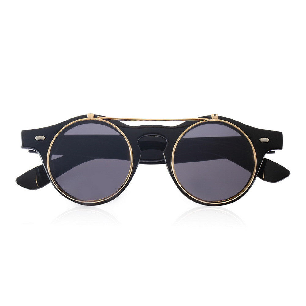 Steampunk Glasses / Goggles- Flip Up Sunglasses Retro - antianti