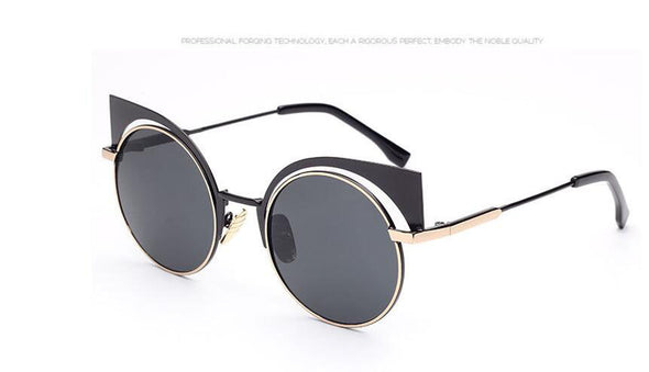 Vintage Women Cat Eye Sunglasses - antianti