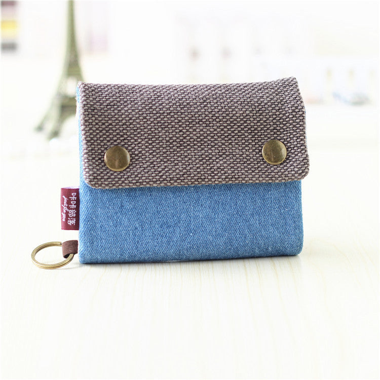 Three Layer Folded Manual Canvas Wallet - antianti