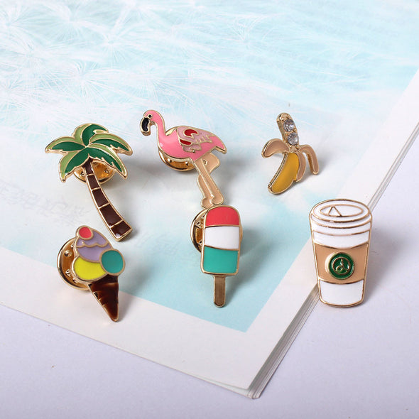Fun summer pin brooch badges - antianti