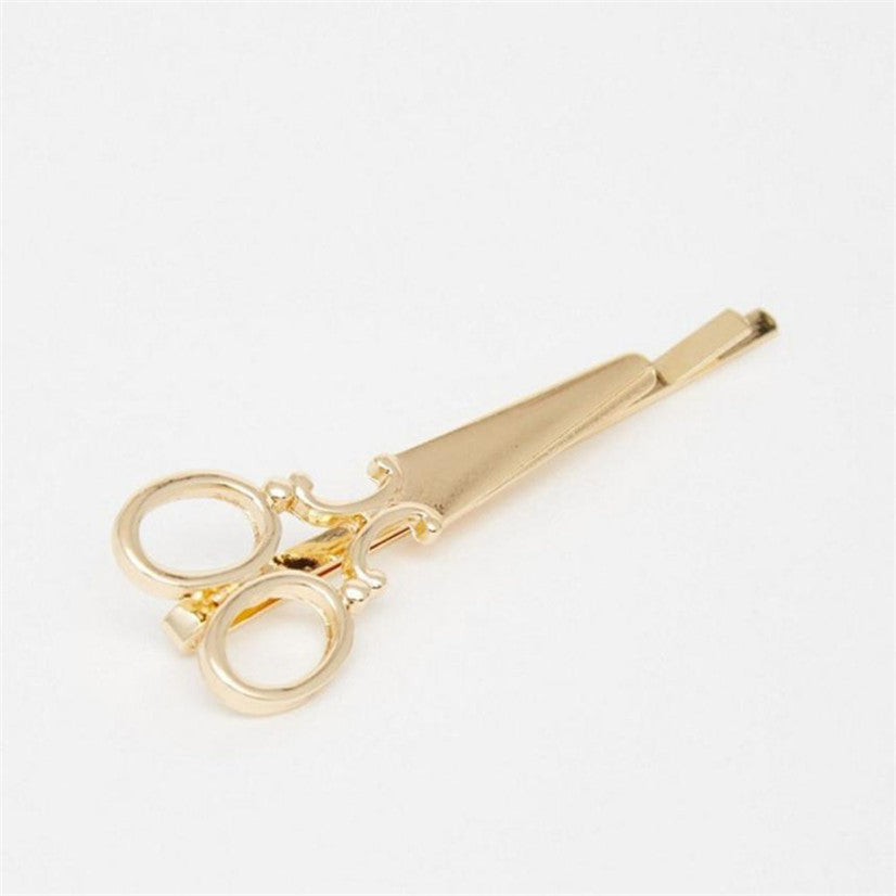 Gold / Silver Scissors Hair Clip - antianti