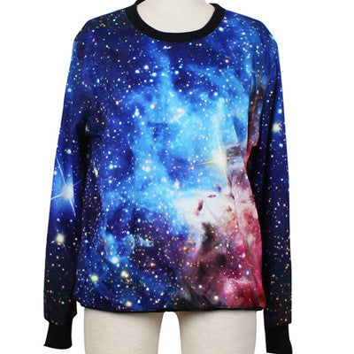 Cosmic Blue Sweatshirts - 3D Printed - antianti